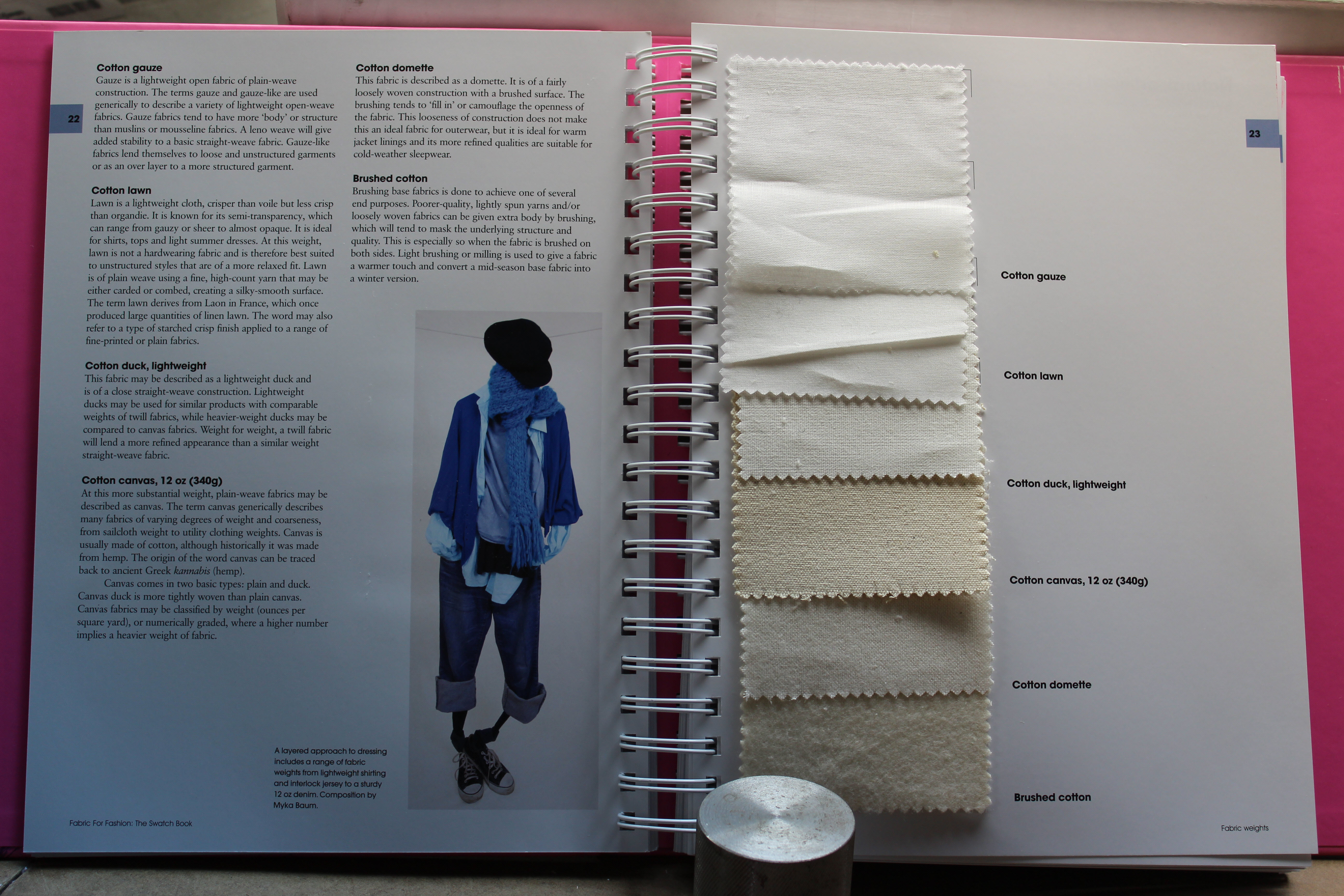 Fabric swatch book for fashion 84