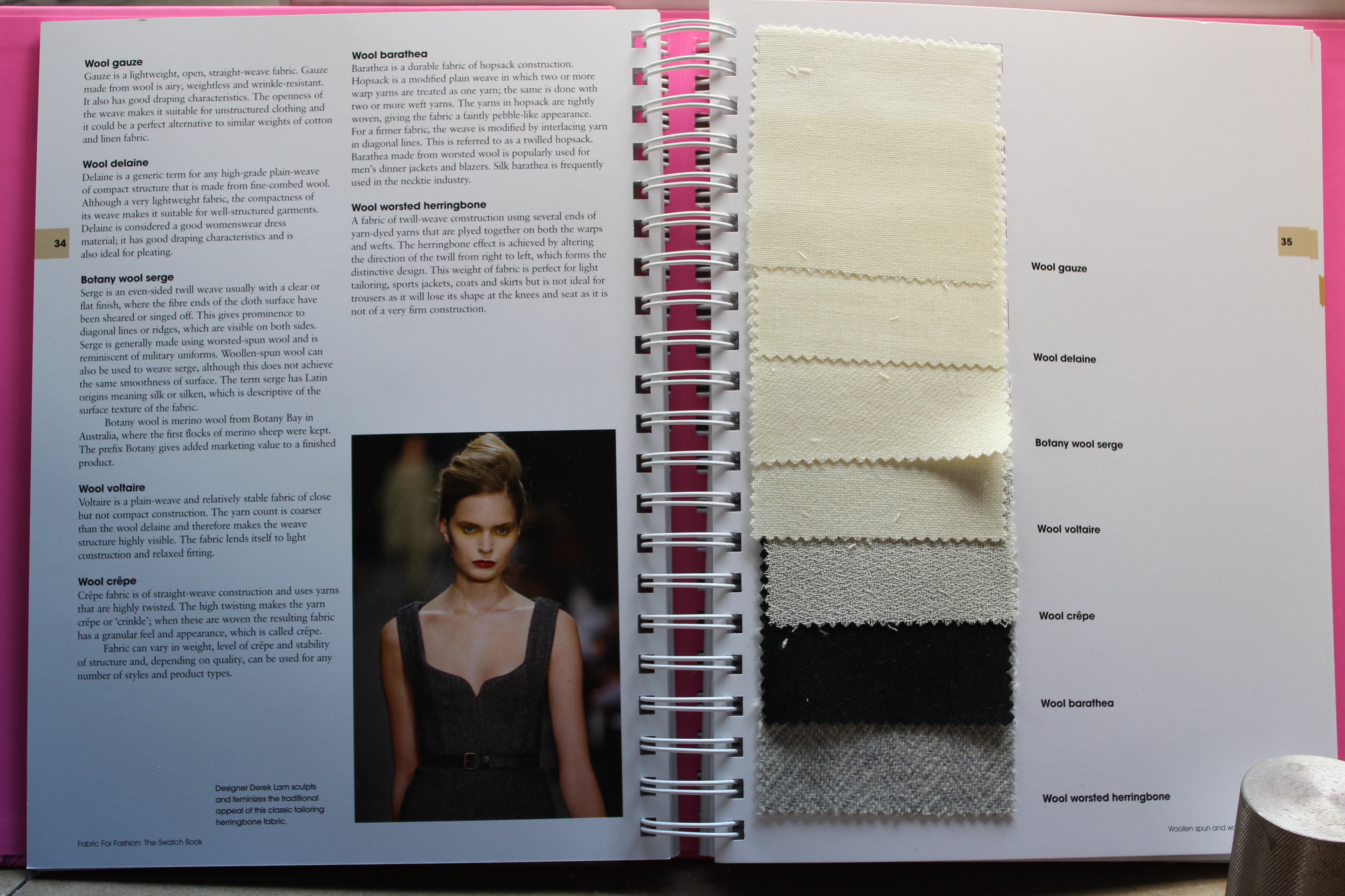 Fabric swatch book for fashion 21
