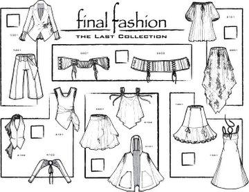 fashion line sheet