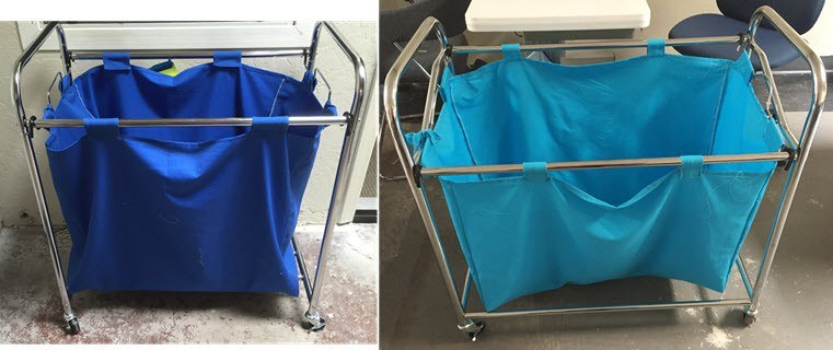 optional laundry carts